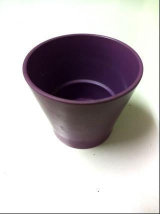 🚚 紫色陶瓷小花盆