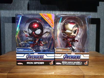 Hot Toys Avengers: Endgame Iron Spider and Iron Man Battle Damaged Version Cosbabys MISB