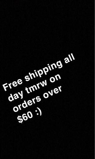 Free shipping $60 and over