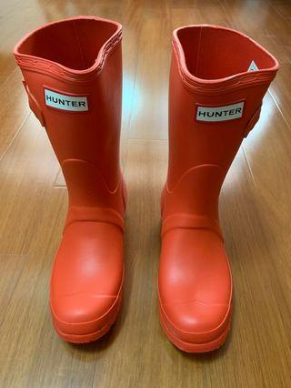 Hunter-Women's Original short wellington boots-orange