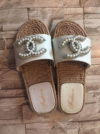 Chanel inspired sandals