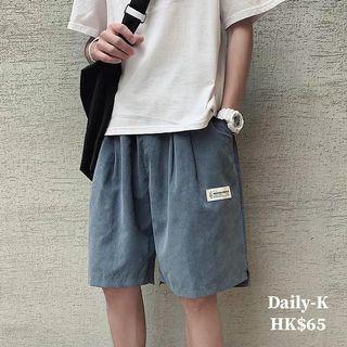 19年7月12  拼白色標籤寬鬆款短褲   貨號:sorts190712 大減價