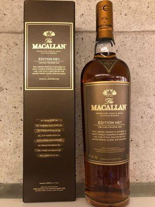 Macallan Limited Edition No.1