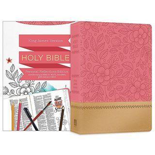 [PO] ✝️ Personal Reflections KJV Bible [Rosegold Bloom]
