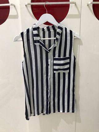 Stipes Sleeveless Shirt