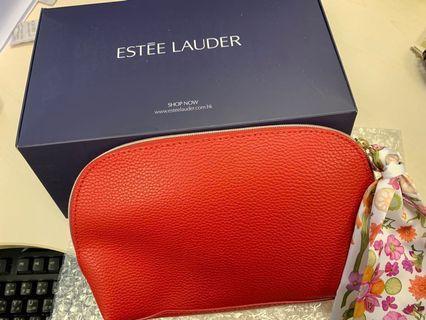 Estee Lauder 化妝袋 全新皮料