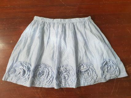 Gingersnaps Blue and White Striped Skirt