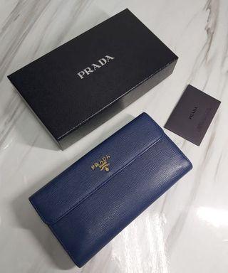 Prada 長銀包(藍色)