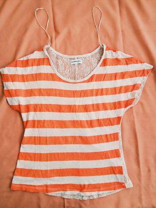 Colorbox Summer Top Orange Striped