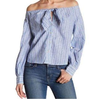 Riviera combo off shoulder top