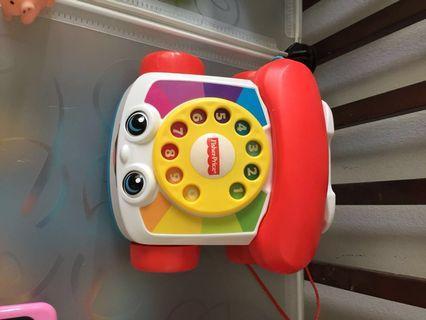 Tiddler's telephone set