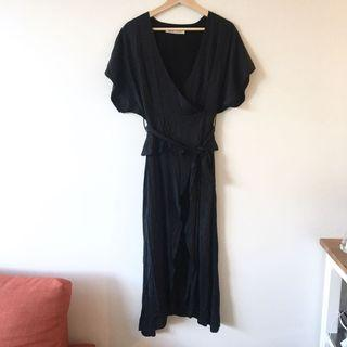 Shakuhachi Black Wrap Dress