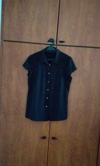 Black Top with buttons