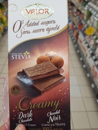 Valor Creamy Dark Chocolate With Truffle Cream
