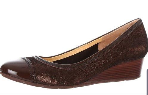 COLE HAAN WOMEN'S MILLY NIKE AIR WEDGE-COPPER BROWN,SIZE 9