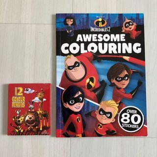 🚚 Incredibles 2 colouring book