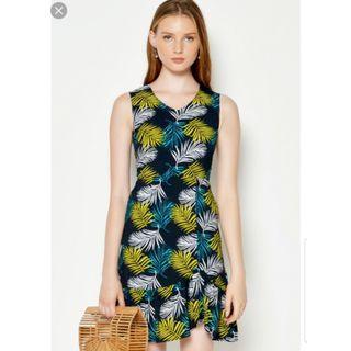 LAB Borya Tropical printed Asymetrical hem dress Size S