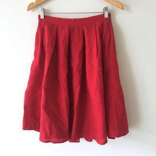 Kinki Gerlinki Red Cotton Blend Skirt