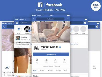 Facebook instagram page promotion post design layout writing digital Digital Marketing