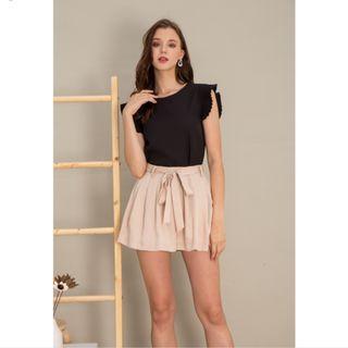 BNWT TSW Leslie Ribbon Flare Shorts nude Size M