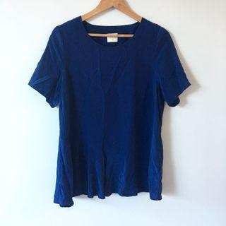 Mesop Blue Silk Top
