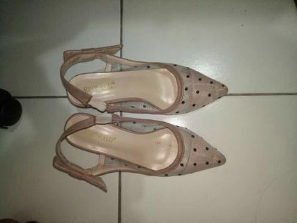 Flat shoes polkadot