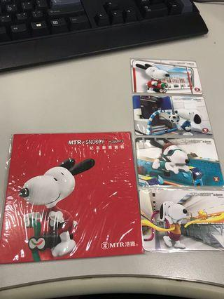 MTR x Snoopy  tickets 港錢 地鐵 車票 紀念 2018