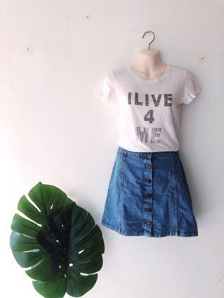 White Quote Baby Tee