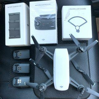Dijual drone DJI spark combo full set++