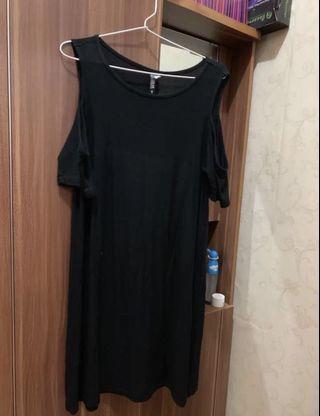 Dress hitam casual / black dress