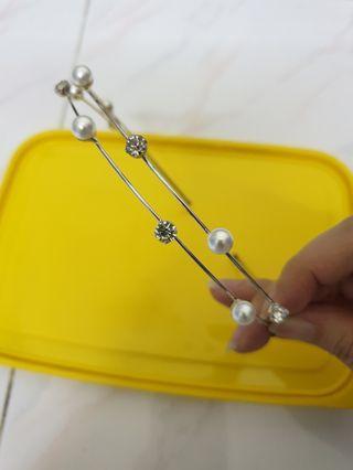 Diamond pearl hair band hairband headband