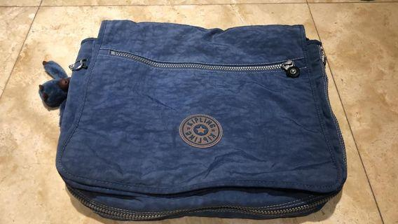 (ori) Kipling jazzy blue crossbody/sling bag/beg