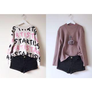 Girls black denim shorts size 8