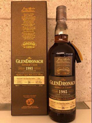 Glendronach Single Cask 1985 26years 52.7%abv