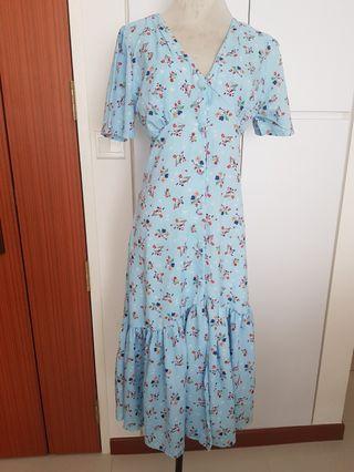 BNWOT Floral maxi dress