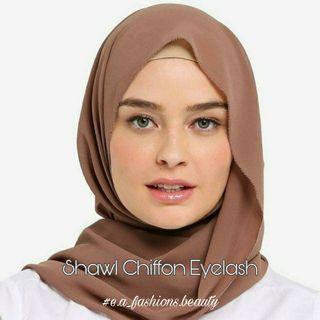 Shawl Chiffon Eyelash
