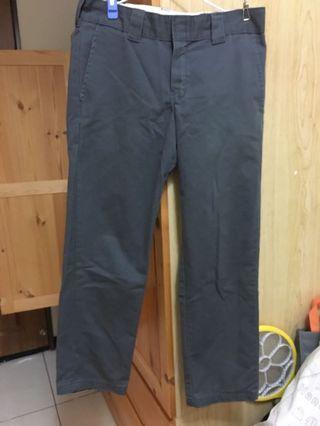 dickies 灰色直筒寬褲 32腰 古著 工裝