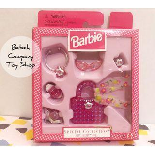 全新 Mattel 1998 barbie City pretty set 芭比 配件組 芭比娃娃 古董玩具 鞋子
