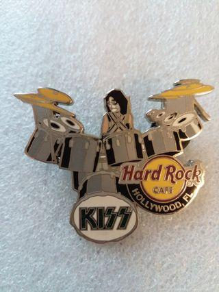 """Hard Rock Cafe Pins ~ HOLLYWOOD FL HOT 2006 KISS SERIES """"PETER CRISS"""" ON DRUMS!"""