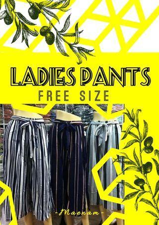 Ladies baggy pants