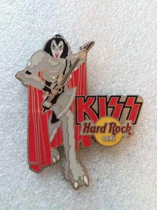 """Hard Rock Cafe Pins ~ ONLINE HOT 2005 KISS STAGE SERIES """"GENE SIMMONS"""" PLAYING AXE BASS GUITAR!"""