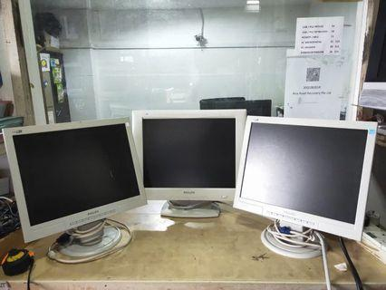 """Philips 15"""" white Monitor for sale @$10 each"""