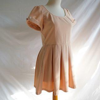 Vintage Dress - Peach
