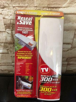 Reseal compact & portable