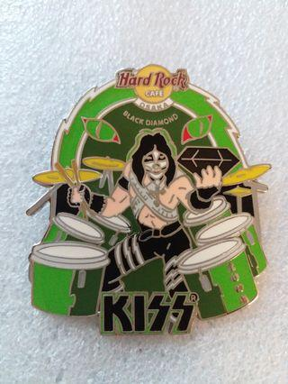 """Hard Rock Cafe Pins ~ OSAKA HOT 2004 KISS BAND MEMBER """"PETER CRISS"""" ON DRUMS WITH BLACK DIAMOND!"""