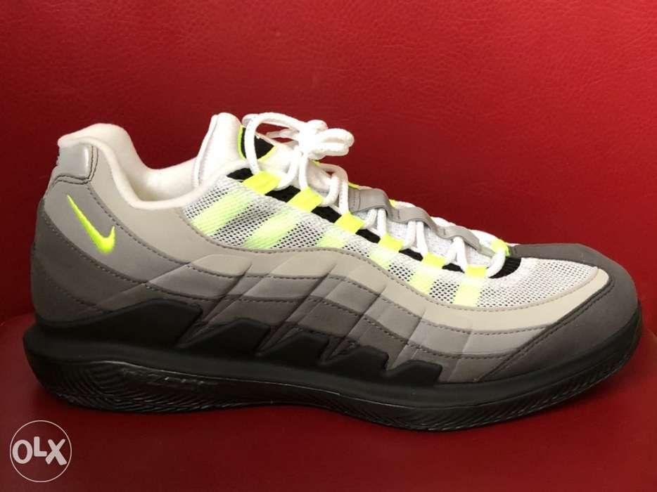 low priced 181a3 3ee22 Authentic Nike Zoom Vapor RF Federer X Air Max 95 Neon ...