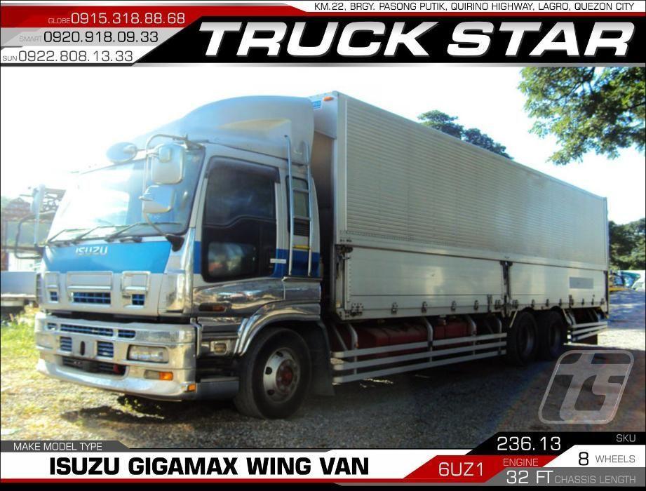 Isuzu Gigamax Wing Van 6UZ1 Engine 32 Footer Truck For Sale on Carousell
