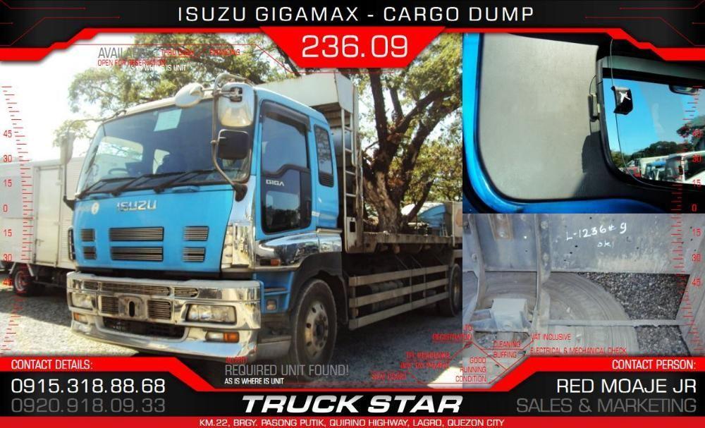Isuzu Gigamax Cargo Dump 6UZ1 Engine 32 Footer Truck For Sale on