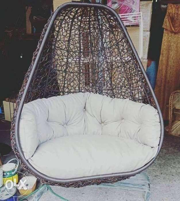 Modern And Outdoor Synthetic Rattan Swing Or Hanging Chairs Home Furniture Home Tools And Accessories On Carousell