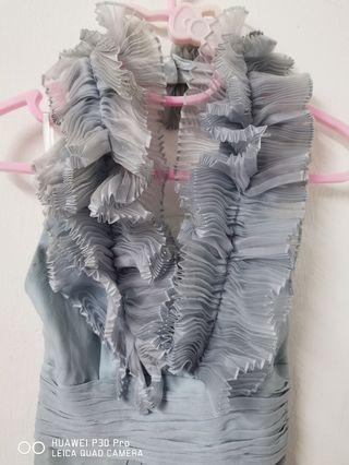Grey color dress